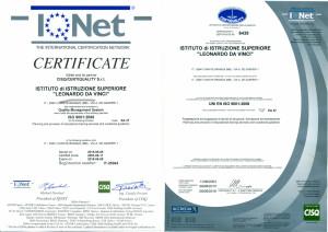 Certificato Qualita